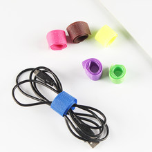 50pcs/Set Headphone Wire Data Storage Rack Fixed Fit Cables Storage Clips Holder Sticky Back Tape Storage Solid Color(China)
