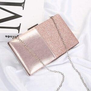 Image 5 - Pochette en cuir Design pour femmes, pochette de soirée, pochette et sac à main rose, sac en Patchwork, sac pour fêtes de mariage, ZD1178