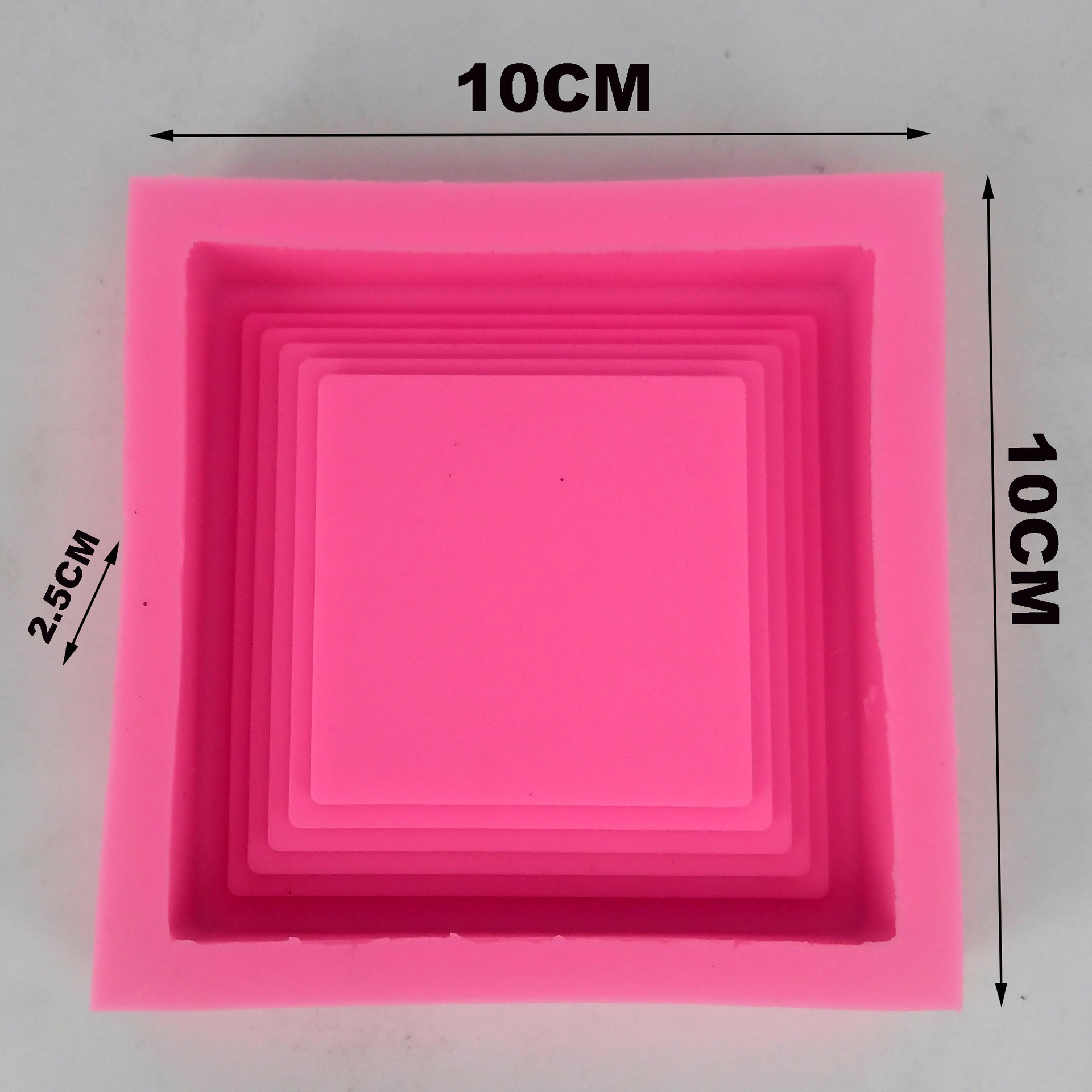 Small Square flowerpot tray making concrete mould Handmade Cement pot holder silicone mold