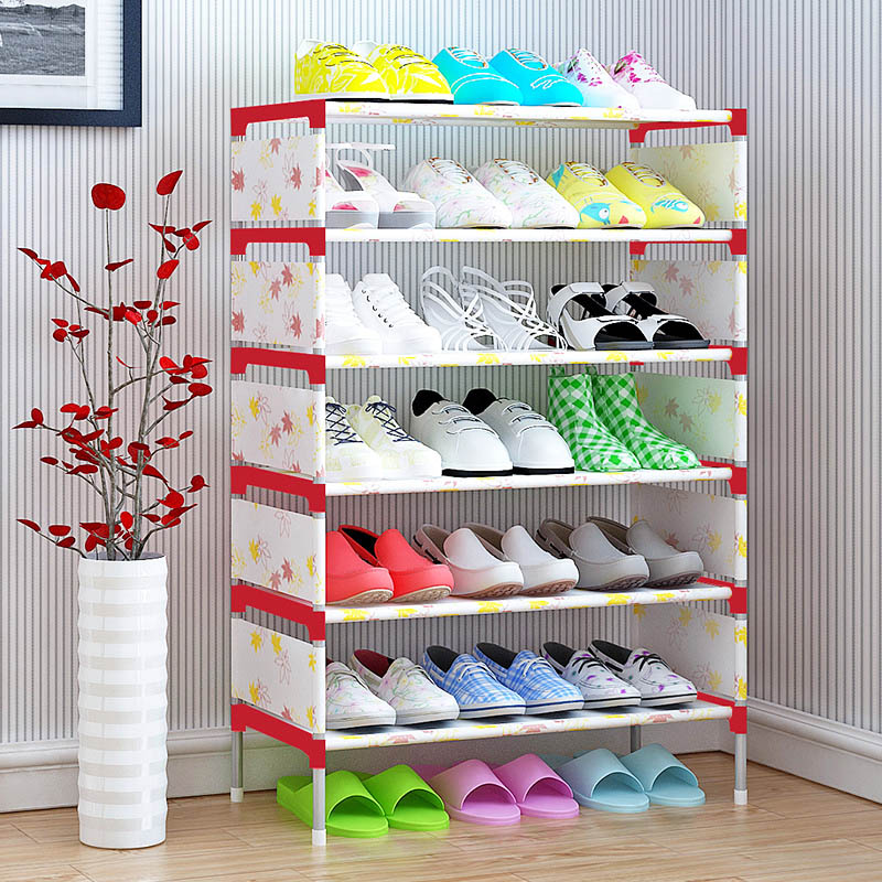 Minimalist home modern fashion stand space-saving non-woven shoes organizer storage furniture cabinet closet 7-storey shoe rack 12 grid diy assemble folding cloth non woven shoe cabinet furniture storage home shelf for living room doorway shoe rack