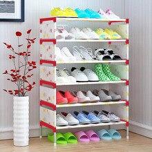 Минималистский дома современной моды Стенд компактный нетканые обуви Организатор для хранения мебели шкаф 7-этажный шкаф для обуви