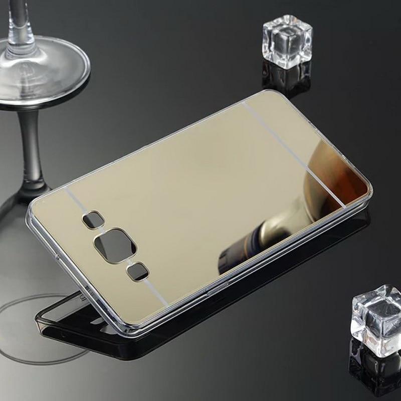 Ultra Thin Mirror Soft Silicone Frame Back Cover For Samsung Galaxy 2016 J1 J2 J3 J5 J7 A3 A5 A7 Note 3 4 5 S3 4 5 6 edge