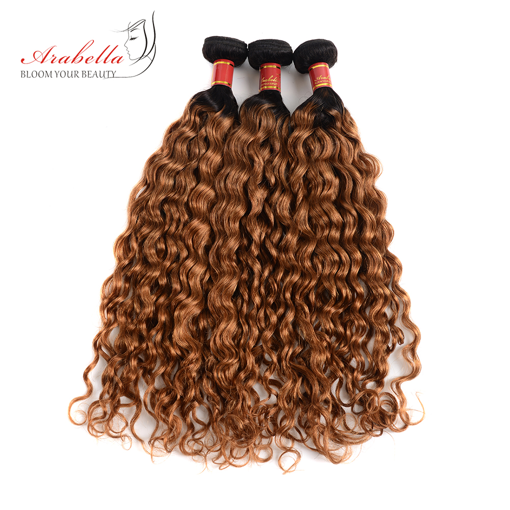 Arabella Hair Peruvian Remy Hair Weave Bundles 3 Pcs 1B 30 Natural Wave Hair Extension 100
