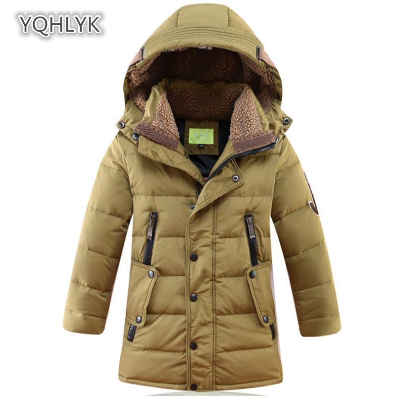 Children's Winter Jackets Duck Down Padded Children Clothing 2018 Big Boys Warm Winter Down Coat Thickening Outerwear LK043