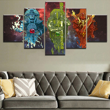 Canvas Wall Art Printed Picture For Living Room Home Decor Frame 5 Pieces Abstract Painting Game DotA 2 Anime Warrior Character