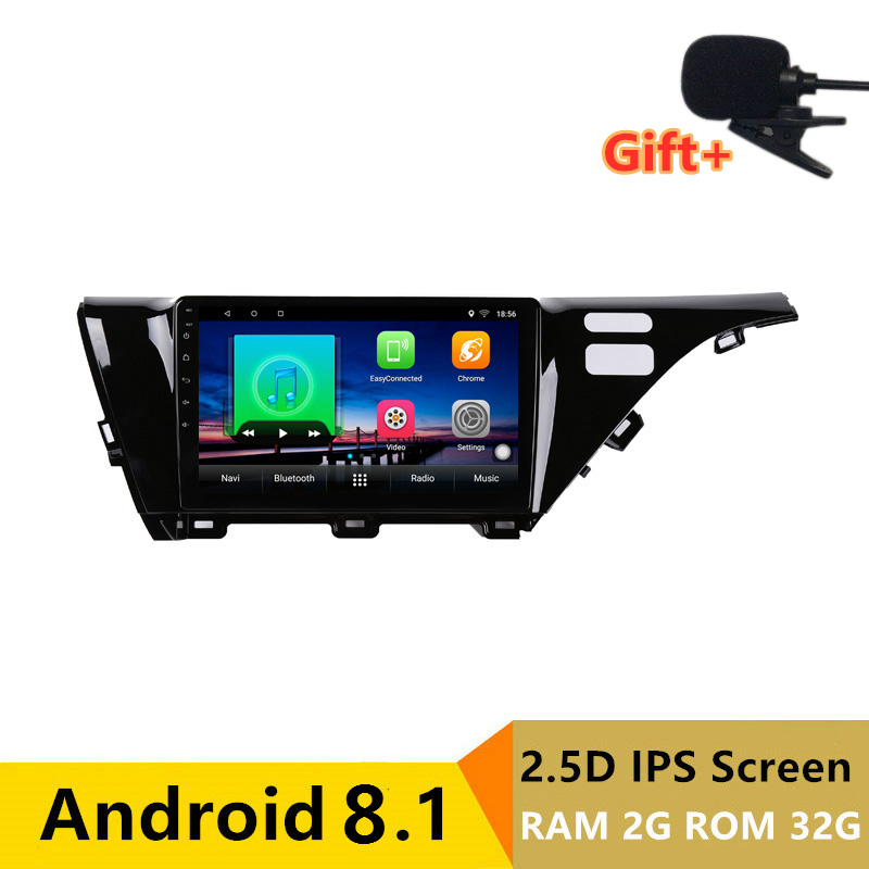 "10"" 2+32G 2.5D IPS Android 8.1 Car DVD Multimedia Player GPS For Toyota camry 2017 2018 audio car radio stereo navigation"