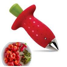Лучший инструмент для очистки клубники, металлический пластиковый нож для фруктов и листьев, гаджет для удаления клубники, кухонный инструмент