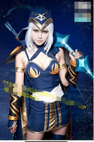 LOL Ashe Customized Uniforms Cosplay Costume Free Shipping