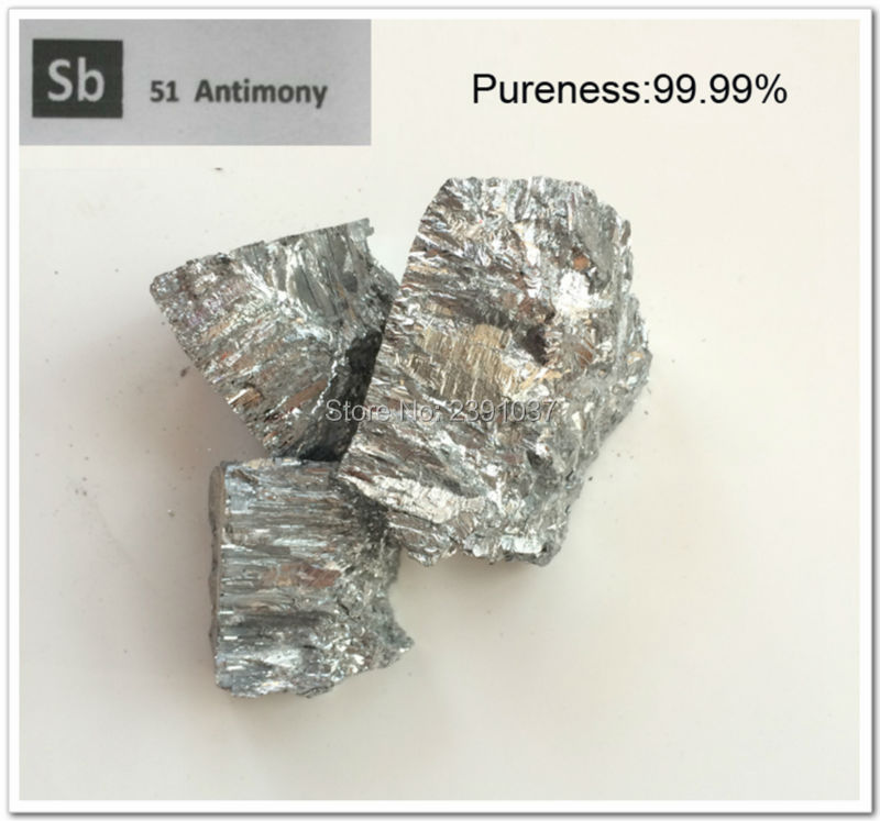 New Fast Shipping 2000g high pure Antimony metal, 99.99% Pieces