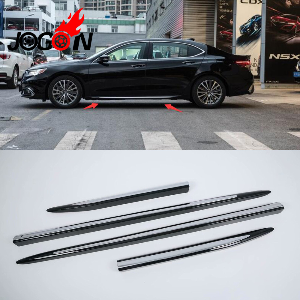 Aliexpress.com : Buy 4pcs Black+ABS Chrome Car Side Door