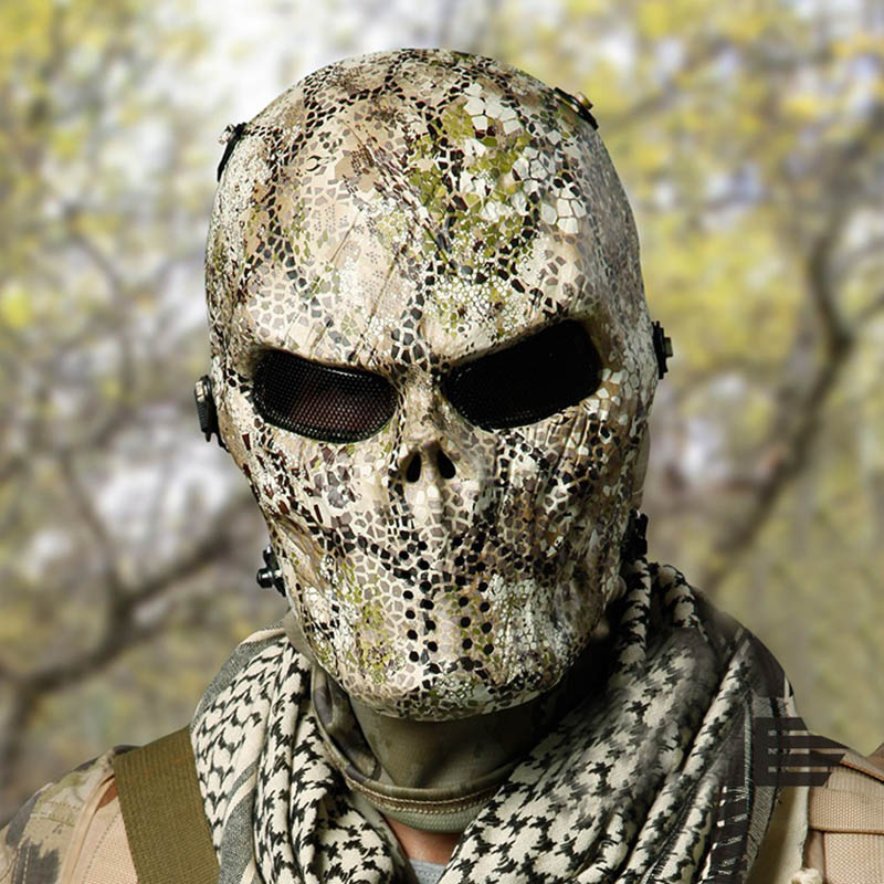 Tactical Camouflage Mask Skull Zombie Field Equipment Mask Suitable for All Kinds of Terrain Gunfight For