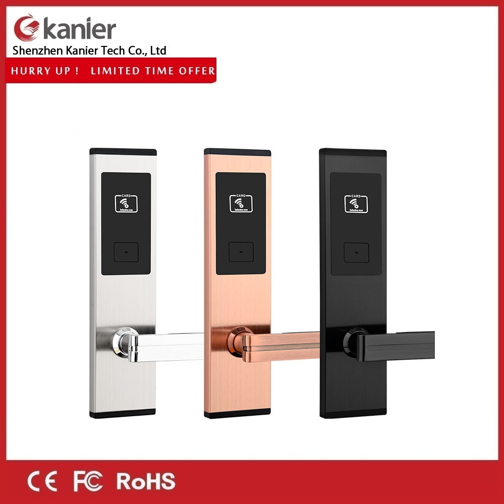 Super Thin Zinc Alloy Super Thin Hotel Door Lock with Free