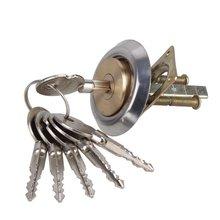 Латунный сменный врезной обод цилиндрической двери Ночь Защелка замок крестообразная Ночная защелка+ 6 ключей