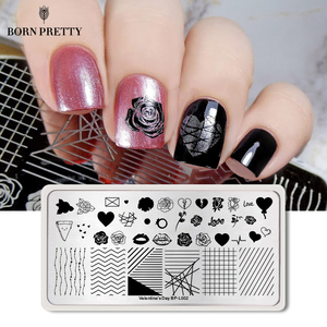 Image 5 - BORN PRETTY Halloween Nail Art Stamping Plate Pumpkin Christmas Pattern  Image Template Festival New Year Nails Stencil