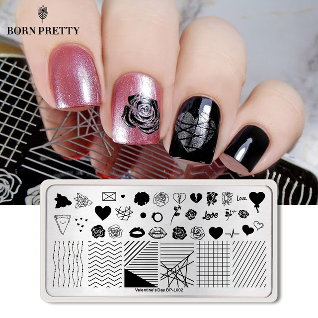 BORN PRETTY Valentine Nail Art Stamping Plate Snow Christmas Pattern Manicure Image Template Festival New Year Nails Stencil