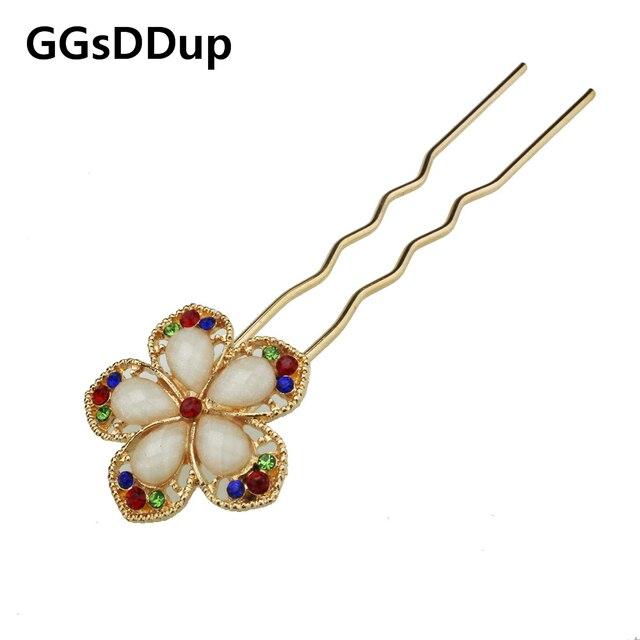 fashion elegant flower hair jewelry for women T6052
