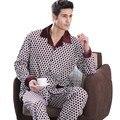 2017 мужская удобные пижамы свободно облегающие пижамы мужской набор полосы Большой размер модальные хлопок пижамы lounge одежда