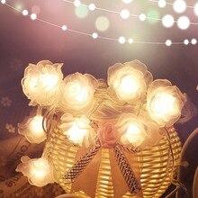 1 м-4 м розовые гирлянды светодиодный светильник s ночник украшение цветы светильник Сказочный фонарь для свадьбы Рождество Рамадан батарея HL0