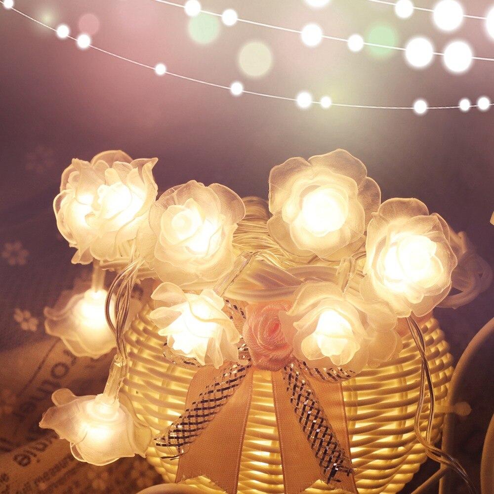 1 Mt-4 Mt Rose Girlanden Led Lichterketten Nacht Dekoration Blumen Licht Fee Laterne Für Hochzeit Weihnachten Ramadan Batterie Hl0 Erfrischung