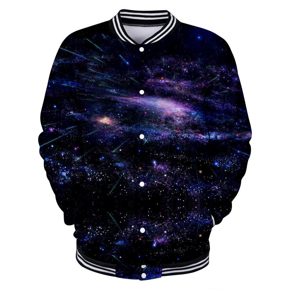LUCKYFRIDAYF Kpop Starry Sky Suicide Squad 3D Baseball Jacket Skull Autumn Women/Men Fashion Coats Casual Clothes