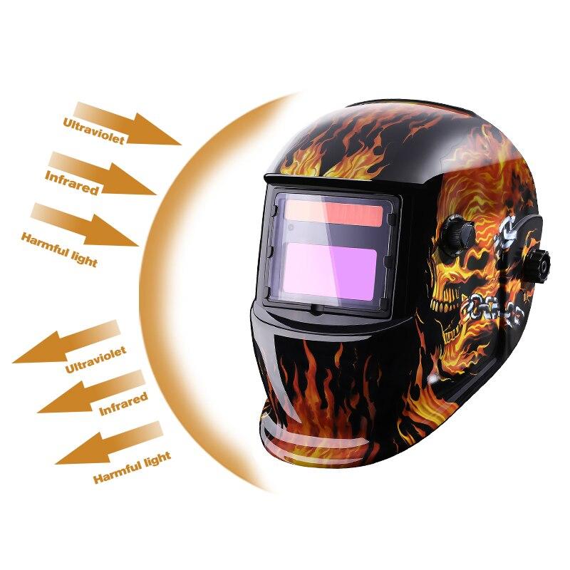 dekopro череп солнечной авто затемнение миг мма электросварочного маска/шлем/сварщик кепки/сварки объектив для сварки машина