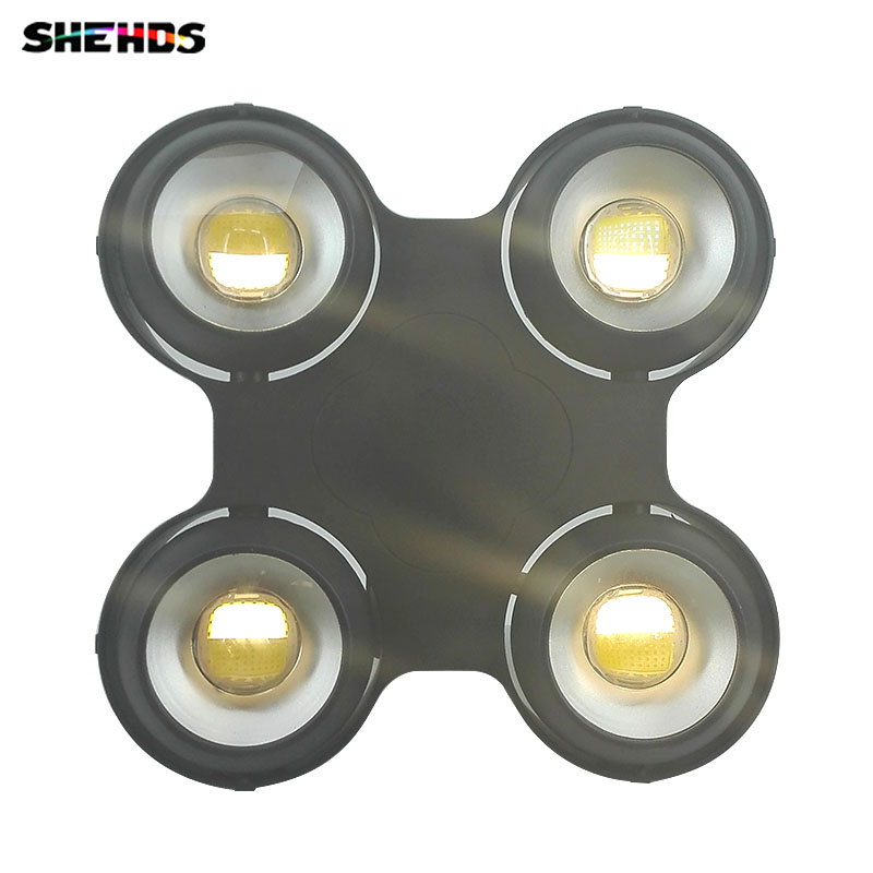 New 4x100W 400W Led COB Audience Blinder Light Warm+Cool White Background Stage Light Waterproof Blinder,IP65 Fan Outdoor DMX512