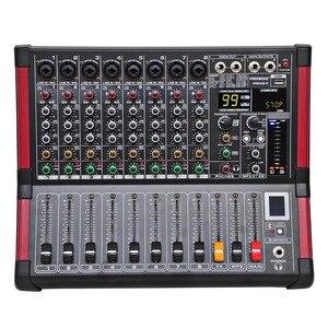 Image 2 - MINI8 P 8 ערוצים כוח ערבוב קונסולה עם מגבר Bluetooth להקליט 99 DSP אפקט מקצועי USB אודיו מיקסר