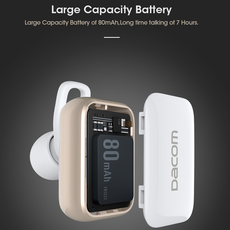 cce2779093c Dacom GF8 TWS Earbuds Handsfree Earpiece Noise Canceling Headset Stereo  Wireless Mini Bluetooth Earphone Headphone with mic-in Bluetooth Earphones  ...
