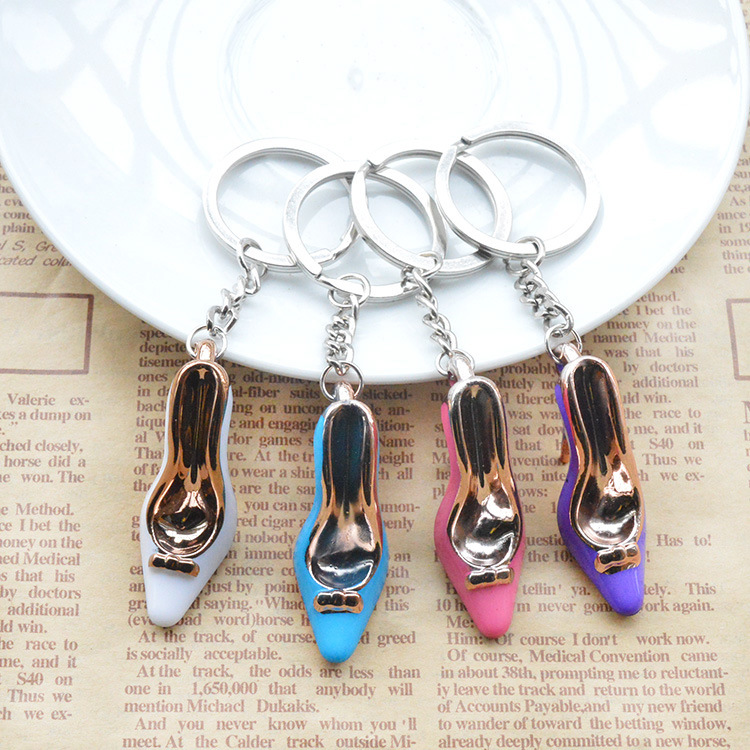1PCS Cute Cartoon Keychain High Heel Key Ring Chain Bag Pendant Car Pendant For Women Jewelry  YS-253