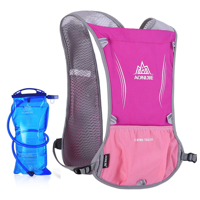 1b686ce6cb AONIJIE Women Men Lightweight Running Backpack Outdoor Sports Trail Racing  Marathon Hiking Hydration Vest Pack 1.5L Water Bag