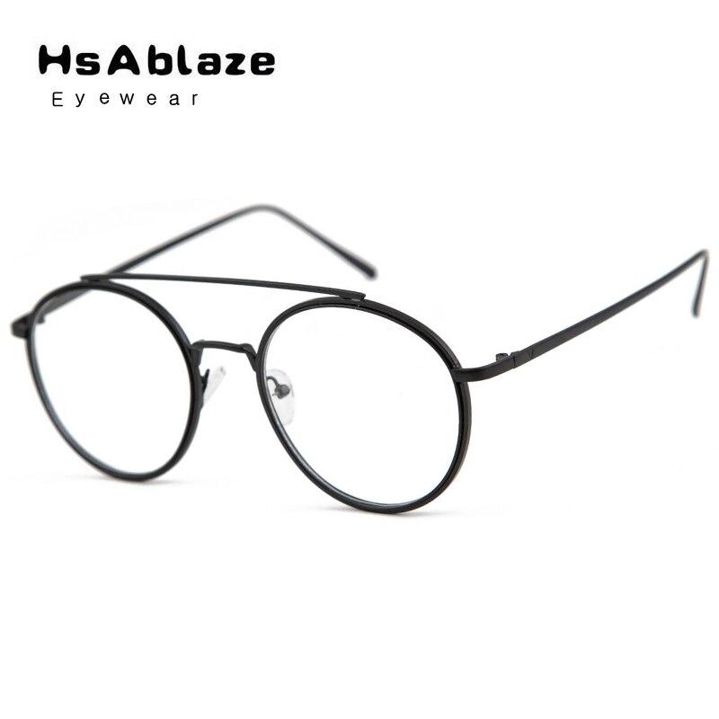 Cens HsAblaze Óculos Retro Claras Óculos De Nerd Quadros Para Homens Macho Oval  Óculos Redondos Óculos de Armação de Metal de Ouro Para As Mulheres d4fe9eb7c7