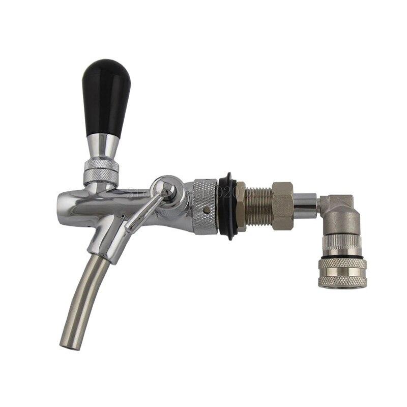 Регулируемый пивной кран с замком из нержавеющей стали для жидкого шара отсоедините кега для домашнего пивоварения, кран диспенсер для нап