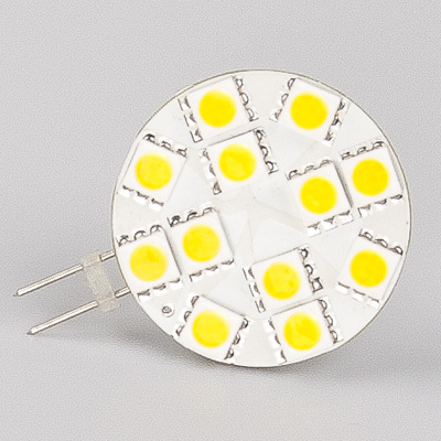 Free Shipment !!! Dimmable 12Led G4 Lamp wide volt AC/DC10-30V 5050 SMD White Warm White Led Engineering Light Bulb DIY Project