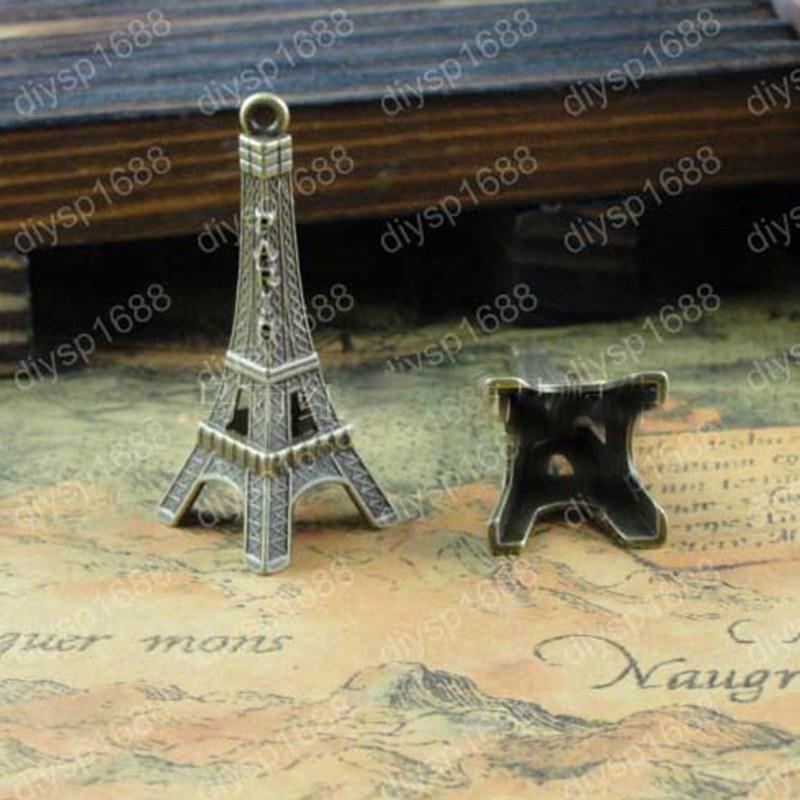 New 17*42mm 25pcs Home Decoration Eiffel Tower Metallic Model Bronze Iron Romantic House Office Decoration 011005026