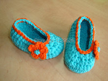 BABY BOOTIE-childrens shoesbaby shoes ballerina shoes shoes booties blue crochet shoes- crochet booties Sold by Dhrate