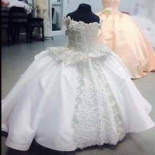 modabelle White Flower Girls Dresses Vestido Daminha De Honra Appliques Lace First Communion For Baljurk Meisje
