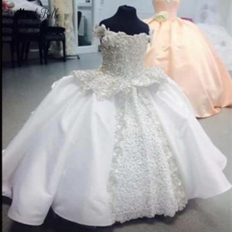 modabelle White   Flower     Girls     Dresses   Vestido Daminha De Honra Appliques Lace First Communion   Dresses   For   Girls   Baljurk Meisje