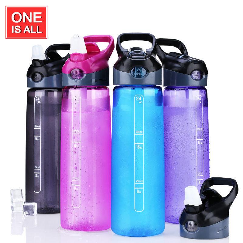 700ml / 24 oz Botol Air Sukan Tritan Untuk Teh Air dengan Jerami - Dapur, makan dan bar - Foto 2