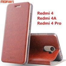 Красный Mi 4A чехол Xiaomi Redmi 4 Pro Чехол Redmi 4 чехол флип чехол MOFI оригинальный Сяо Mi Ми Красный Mi 4 кожа принципиально Капа Coque 5″