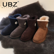 UBZ Factory Outlet Sheepskin Boots Button Fish Lines Followed By Australia Sheepskin Boots Sheepskin Boots Female Free Shipping