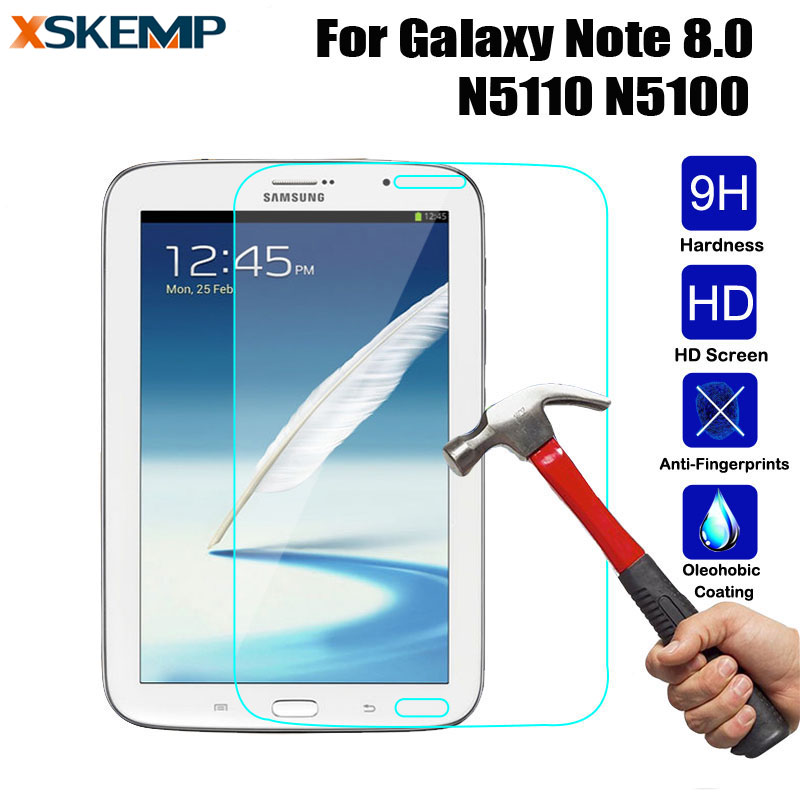 8.0 inch Ultra Clear Screen Protector For Samsung Galaxy Note 8.0 GT N5110 Tempered Glass Glossy Guard Protective Film Tablet PC|clear screen protector|screen protectortempered glass - title=