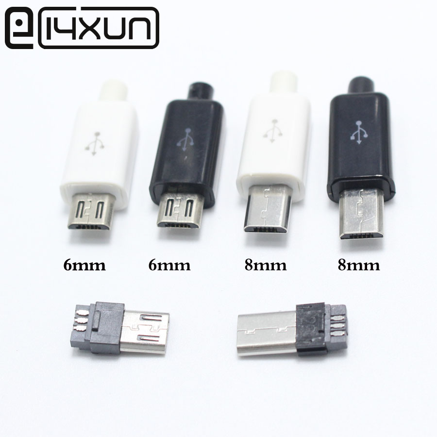 2//5//10pcs type a usb 4 pin male socket connector plug termination plastic sCHP