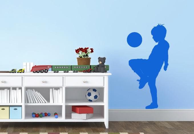 nio jugando ftbol creativo pegatinas de pared de ftbol nios para nios decoracin de la
