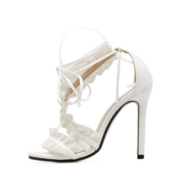 73d6f2865933 Aliexpress.com   Buy MeiLiKeLin Bandage Ankle Strap Heels Women ...
