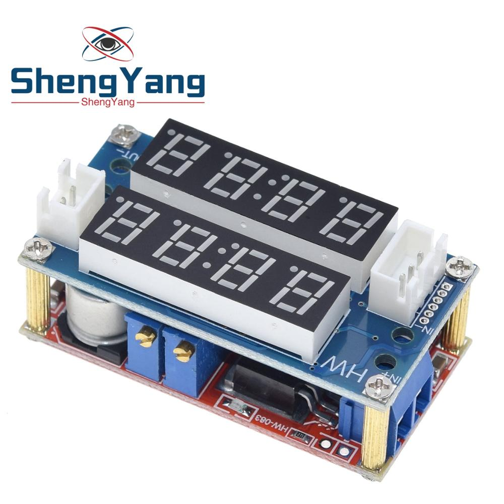 5A Adjustable Power CC//CV Step-down Charge Module LED Driver+Red Voltmeter good