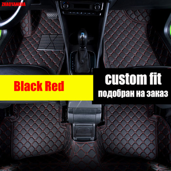 ZHAOYANHUA car floor mats for BMW Series GT M3 X1 X3 X4 X5 X6 Z4 Waterproof car-styling leather Anti-slip carpet liners