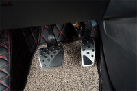 2pcs Fuel Gas Brake Foot Pedal Pad Plate AT For Renegade 2015 2016 Cover Trim