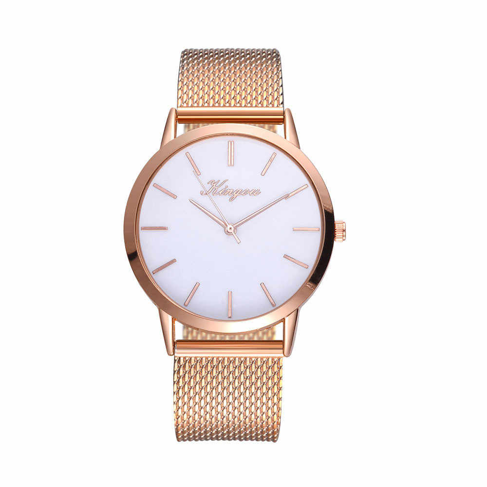 Kingou Gold NEW Women's watch stainless steel band watch Fashion & Casual dropshipping women watch Female Clock montre femme