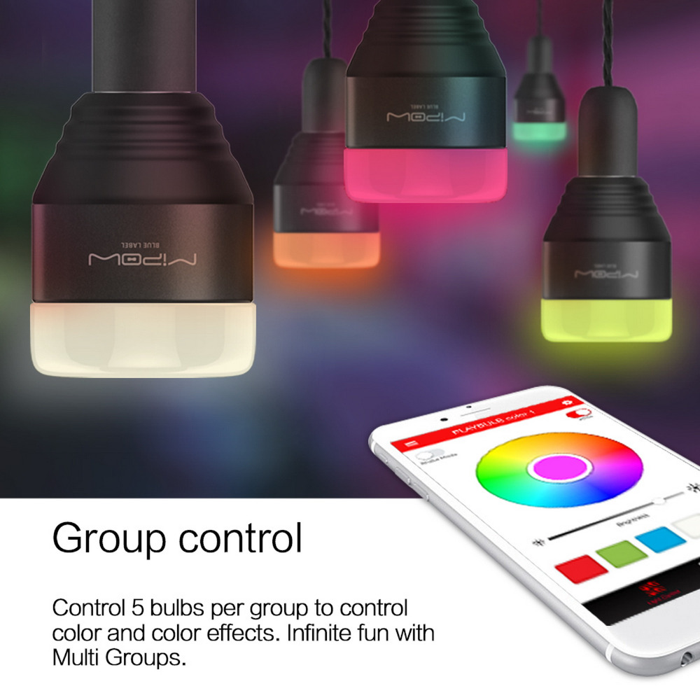 mipow bluetooth smart led light bulbs app smartphone group controlled dimmable color changing decorative christmas party lights in novelty lighting from