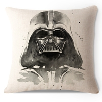 Decorative Throw Pillow Case Star Wars Darth Vader Storm Trooper Cotton Linen HEAVY WEIGHT FABRIC Sofa Car Chair Cushion Cover